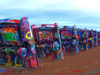 Cadillac Graffiti III (Panoramic)